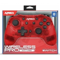KMD Switch Wireless Pro Controller - Clear Red (Switch)
