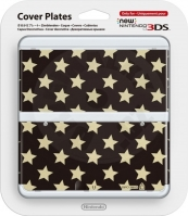 New 3DS Cover Plate Gold Stars