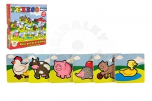 Teddies Pexeso My first animals wooden 24 pieces for the little ones in a box 19,5x19,5x3,