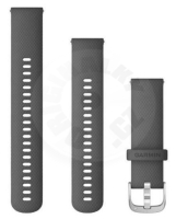 Garmin replacement band 22mm - shadow gray / silver