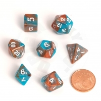 Set of playing dice Blackfire - 7 pieces,crystal blue