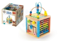 Trefl Wooden educational cube Wooden Toys in a box 21x21x21cm 2+