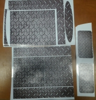 Vinyl cover (stickers) for console - Metal Grate (PS3)
