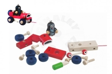 Detoa Mole and winking car pulling wood 14cm in a box