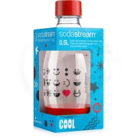 SodaStream Baby bottle 0.5l Smiley red