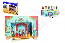 Detoa Cinderella magnetic wooden theater with figures in a box 33.5x23x3.5cm