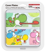 New 3DS Cover Plate Multicolor Yoshi's