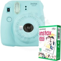 Fujifilm Instax Mini 9 Bundle (1x10 film) - ice blue