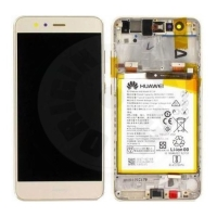 Huawei original LCD and touch layer + frame + battery for P10 Lite - gold