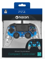 Nacon Wired Compact Controller - transparent blue (PS4)