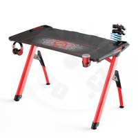 Ultradesk gaming table Invader - red