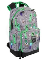 Backpack - Minecraft Overworld All Over - gray