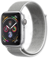 Apple Watch Series 4 40mm - silver aluminum with white strap