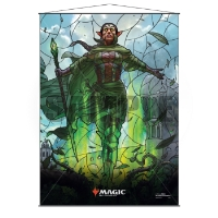 Magic: The Gathering Stained Glass Wall Scroll - Nissa