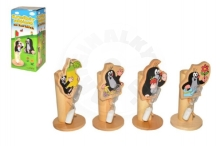 Wiky Brush stand Mole wood asst 4 types in a box 7x15x7cm